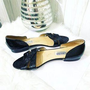 Calvin Klein Patent Leather Black Shoes Size 9.5
